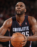 Jan 2, 2014, Charlotte Bobcats vs Portland Trail Blazers - Al Jefferson Photographic Print by Cameron Browne