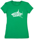 Juniors: Shark Names T-shirts