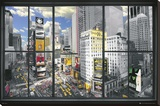 New York Window Stretched Canvas Print