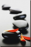 Zen Stones-Red Stretched Canvas Print