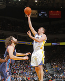 Feb 4, 2014, Charlotte Bobcats vs Golden State Warriors - David Lee, Josh McRoberts Photographic Print by Rocky Widner