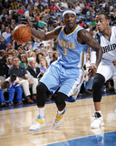Mar 21, 2014, Denver Nuggets vs Dallas Mavericks - Ty Lawson Photographic Print by Glenn James