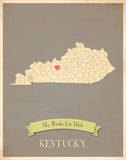 Kentucky My Roots Map, clay version (includes stickers) Posters by Rebecca Peragine