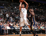 Nov 9, 2013, Indiana Pacers vs Brooklyn Nets - Brook Lopez Photographic Print by Nathaniel S. Butler
