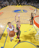 Mar 20, 2014, Milwaukee Bucks vs Golden State Warriors - David Lee, Ersan Ilyasova Photographic Print by Rocky Widner
