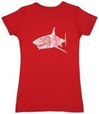 Juniors: Shark Names T-Shirt