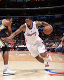 Oct 23, 2013, Utah Jazz vs Los Angeles Clippers - DeAndre Jordan Photographic Print by Andrew Bernstein