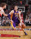 Mar 3, 2014, Los Angeles Lakers vs Portland Trail Blazers - Pau Gasol Photographic Print by Sam Forencich