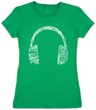 Juniors: Headphones-Languages T-Shirt