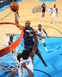 Mar 3, 2014, Charlotte Bobcats vs Oklahoma City Thunder - Al Jefferson Photographic Print by Layne Murdoch