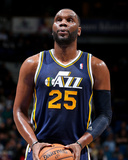 Apr 15, 2013, Utah Jazz vs Minnesota Timberwolves - Al Jefferson Photographic Print by David Sherman