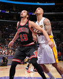 Feb 9, 2014, Chicago Bulls vs Los Angeles Lakers - Joakim Noah, Robert Sacre Photo by Andrew Bernstein