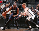 Mar 19, 2014, Charlotte Bobcats vs Brooklyn Nets - Al Jefferson Photographic Print by Ned Dishman