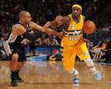 Mar 26, 2014, San Antonio Spurs vs Denver Nuggets - Ty Lawson Photographic Print by Bart Young