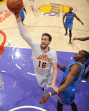 Mar 9, 2014, Oklahoma City Thunder vs Los Angeles Lakers - Pau Gasol Photo by Andrew Bernstein