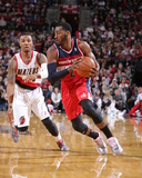 Mar 20, 2014, Washington Wizards vs Portland Trail Blazers - John Wall Photographic Print by Sam Forencich