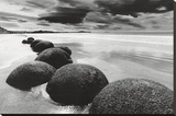 Boulders on the Beach Stretched Canvas Print