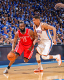 Apr 21, 2013, Houston Rockets vs Oklahoma City Thunder (Game One) - Thabo Sefolosha, James Harden Photographic Print by Layne Murdoch