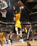 Mar 31, 2014, San Antonio Spurs vs Indiana Pacers - Paul George Foto di Ron Hoskins
