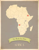 My Roots Africa Map - clay Prints by Rebecca Peragine