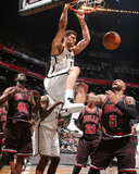 Apr 4, 2013, Chicago Bulls vs Brooklyn Nets - Carlos Boozer, Brook Lopez Photographic Print by Nathaniel S. Butler