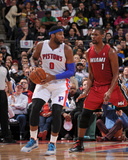 Mar 28, 2014, Miami Heat vs Detroit Pistons - Andre Drummond Photographic Print by Allen Einstein