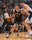 Nov 3, 2013, Brooklyn Nets vs Orlando Magic - Brook Lopez, Nikola Vucevic Photographic Print by Fernando Medina