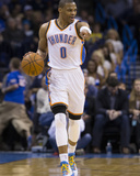Feb 23, 2014, Los Angeles Clippers vs Oklahoma City Thunder - Russell Westbrook Photographic Print by Richard Rowe