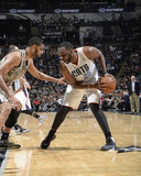 Feb 28, 2014, Charlotte Bobcats vs San Antonio Spurs - Al Jefferson Photo by D. Clarke Evans