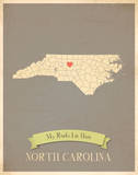 North Carolina My Roots Map, clay version (includes stickers) Posters by Rebecca Peragine