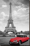 Paris-Kiss Stretched Canvas Print