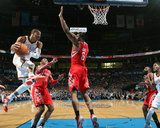 Mar 11, 2014, Houston Rockets vs Oklahoma City Thunder - Russell Westbrook Photographic Print by Layne Murdoch