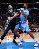 Dec 22, 2013, Minnesota Timberwolves vs Los Angeles Clippers - DeAndre Jordan, Kevin Love Photographic Print by Andrew Bernstein