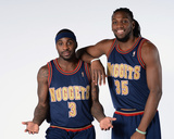 Denver Nuggets 1993-1994 Uniform Shoot - Ty Lawson, Kenneth Faried Photographic Print by Garrett Ellwood