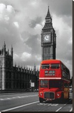 Londyński czerwony autobus (London Red Bus) Płótno naciągnięte na blejtram - reprodukcja
