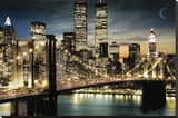 Manhattan, New York Reproduction sur toile tendue