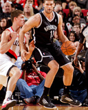 Mar 27, 2013, Brooklyn Nets vs Portland Trail Blazers - Brook Lopez Photographic Print by Cameron Browne