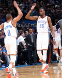 Mar 30, 2014, Utah Jazz vs Oklahoma City Thunder - Russell Westbrook, Kevin Durant Photographic Print by Layne Murdoch