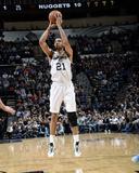 Mar 26, 2014, Denver Nuggets vs San Antonio Spurs - Tim Duncan Photographic Print by D. Clarke Evans