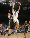 Mar 22, 2014, San Antonio Spurs vs Golden State Warriors - David Lee, Tiago Splitter Photographic Print by Rocky Widner