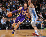 Mar 7, 2014, Los Angeles Lakers vs Denver Nuggets - Pau Gasol Photographic Print by Bart Young