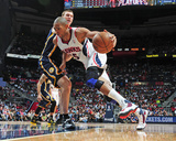 Apr 27, 2013, Indiana Pacers vs Atlanta Hawks (Game Three) - Al Horford, Tyler Hansbrough Photographic Print by Scott Cunningham
