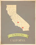 California My Roots Map, clay version (includes stickers) Print by Rebecca Peragine