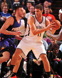 Nov 15, 2013, Brooklyn Nets vs Phoenix Suns - Brook Lopez, Miles Plumlee Photographic Print by Barry Gossage