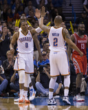 Mar 11, 2014, Houston Rockets vs Oklahoma City Thunder - Russell Westbrook, Caron Butler Photographic Print by Richard Rowe