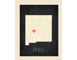 New Mexico Personalized My Roots Map (includes stickers) Prints by Rebecca Peragine