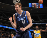 Mar 5, 2014, Dallas Mavericks vs Denver Nuggets - Dirk Nowitzki Photographic Print by Bart Young