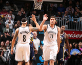 Nov 5, 2013, Utah Jazz vs Brooklyn Nets - Brook Lopez, Deron Williams Photographic Print by Nathaniel S. Butler