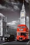 Collage van Londen Kunstdruk op gespannen doek