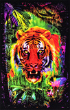 Opticz Jungle Tiger Blacklight Reactive Poster Photo
